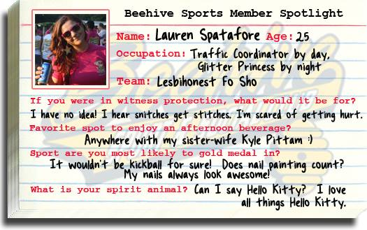 Member Spotlight Lauren Spatafore